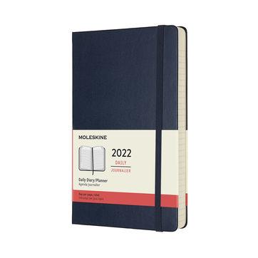 Moleskine - Classic - kalendarz dzienny - 2022 - wymiary: 13 x 21 cm; twarda oprawa