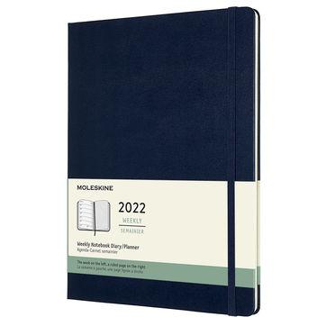 Moleskine - Classic - kalendarz tygodniowy - 2022 - wymiary: 19 x 25 cm; twarda oprawa