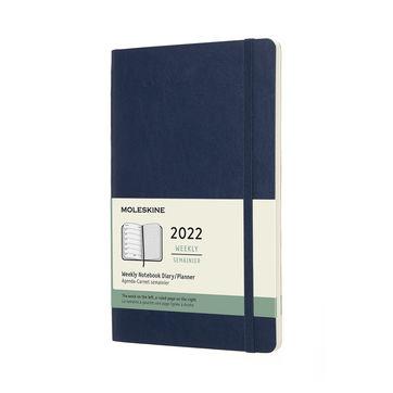 Moleskine - Classic - kalendarz tygodniowy - 2022 - wymiary: 13 x 21 cm; miękka oprawa