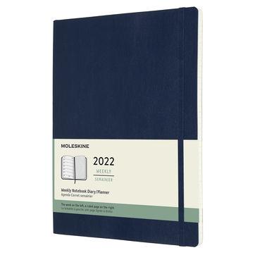 Moleskine - Classic - kalendarz tygodniowy - 2022 - wymiary: 19 x 25 cm; miękka oprawa