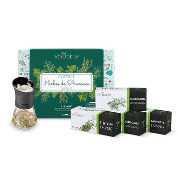 Véritable - zestaw prezentowy - zioła prowansalskie - 4 wkłady nasienne + młynek do ziół