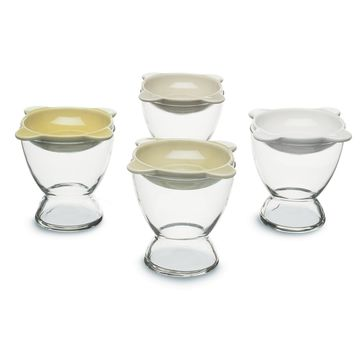 Sagaform - Tapas - szklanki koktajlowe z talerzykami - pojemność: 0,2 l