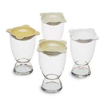 Sagaform - Tapas - wysokie szklanki koktajlowe z talerzykami - pojemność: 0,35 l