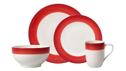 Villeroy & Boch - Deep Red - porcelana z czerwonym akcentem