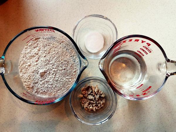 chleb bez zagniatania - składniki