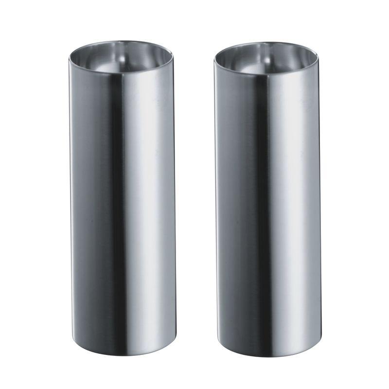 Stelton - Cylinda Line - solniczka i pieprzniczka - wysokość: 6,3 cm