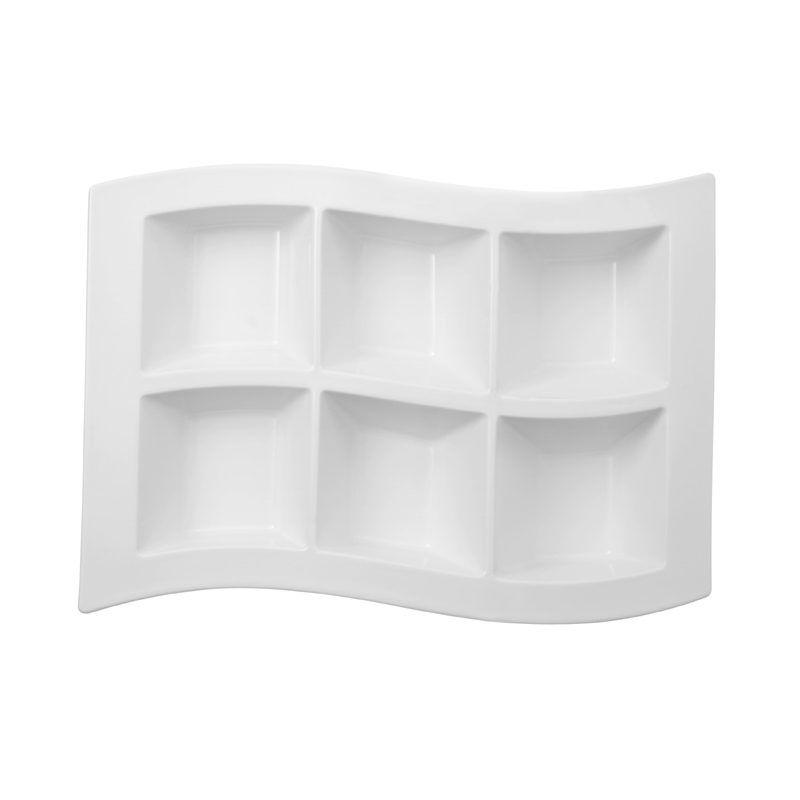 Villeroy & Boch - New Wave - talerz z 6 przegródkami - wymiary: 41 x 30 cm