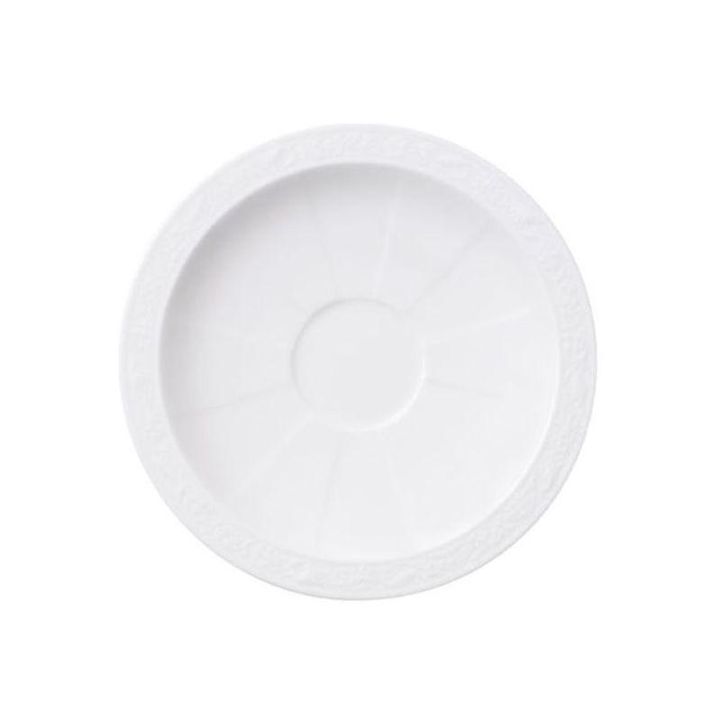 Villeroy & Boch - White Pearl - spodek do filiżanki do espresso - średnica: 13 cm