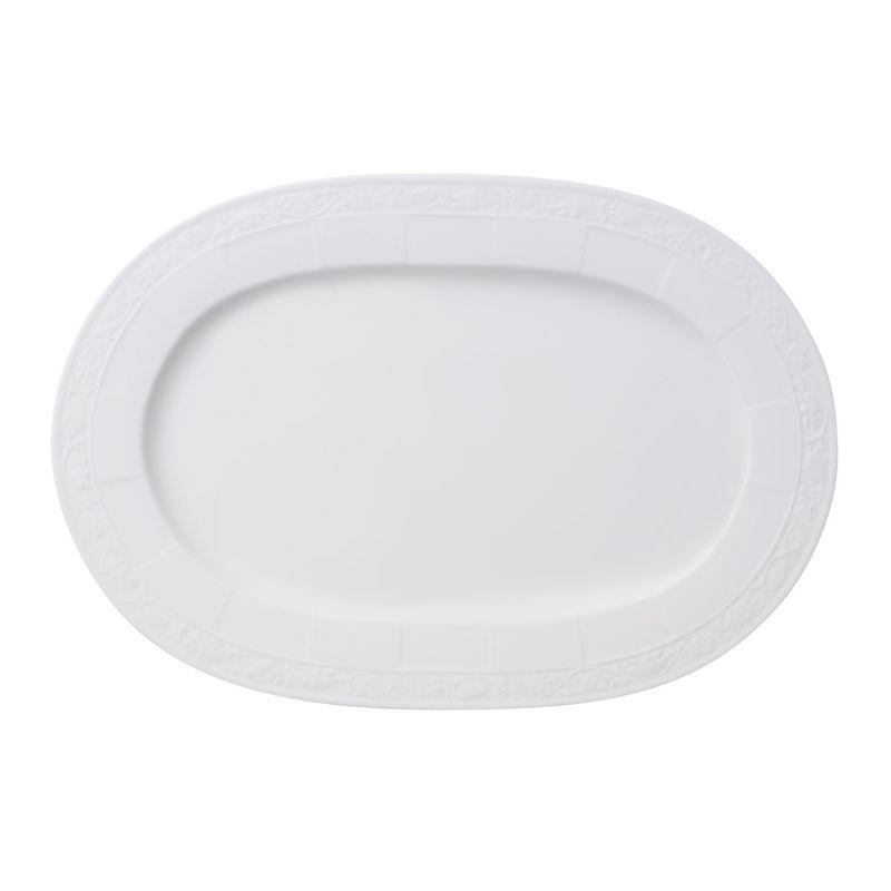 Villeroy & Boch - White Pearl - półmisek owalny - długość: 35 cm