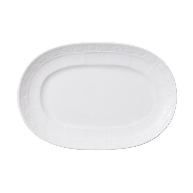 Villeroy & Boch - White Pearl - mały półmisek lub podstawka pod sosjerkę - długość: 22 cm