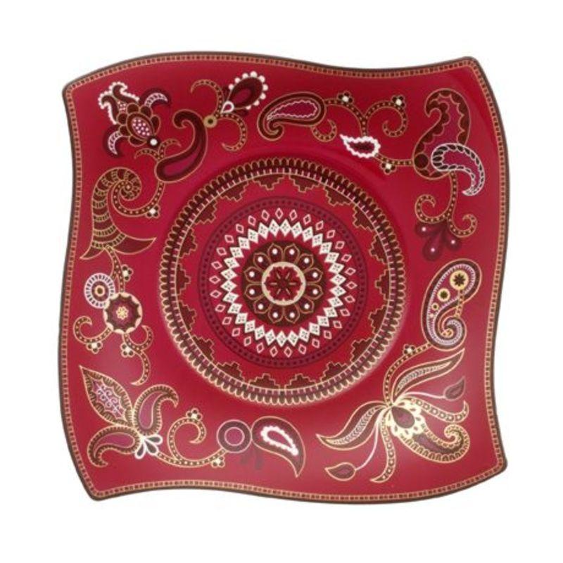 Villeroy & Boch - Samarah Purpur - talerz sałatkowy - wymiary: 24 x 24 cm