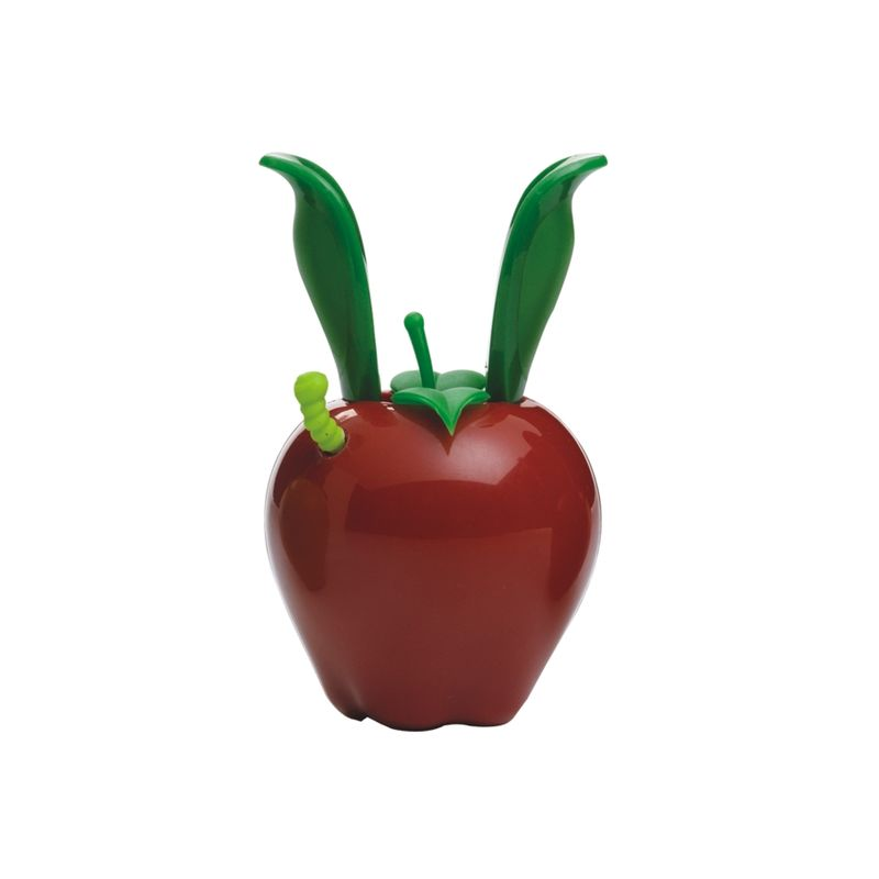 Chef'n - Garden Variety Mini Magnetics - młynek do pieprzu - jabłko - z wbudowanym magnesem