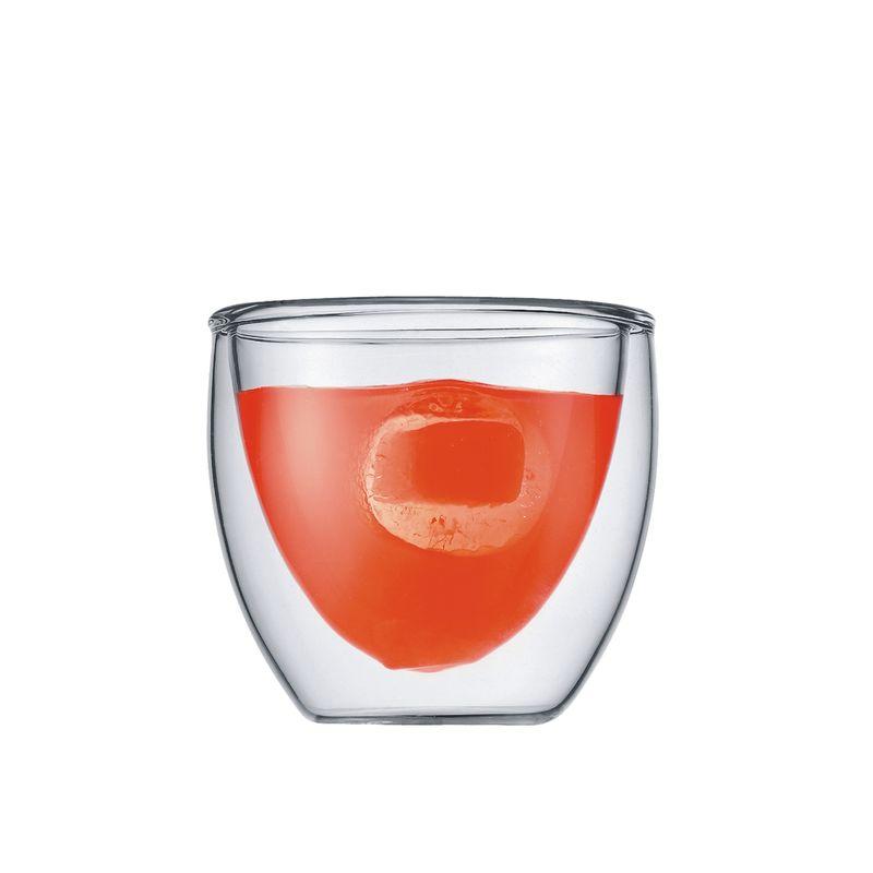 Bodum - Pavina - 2 szklanki o podwójnych ściankach - pojemność: 0,08 l