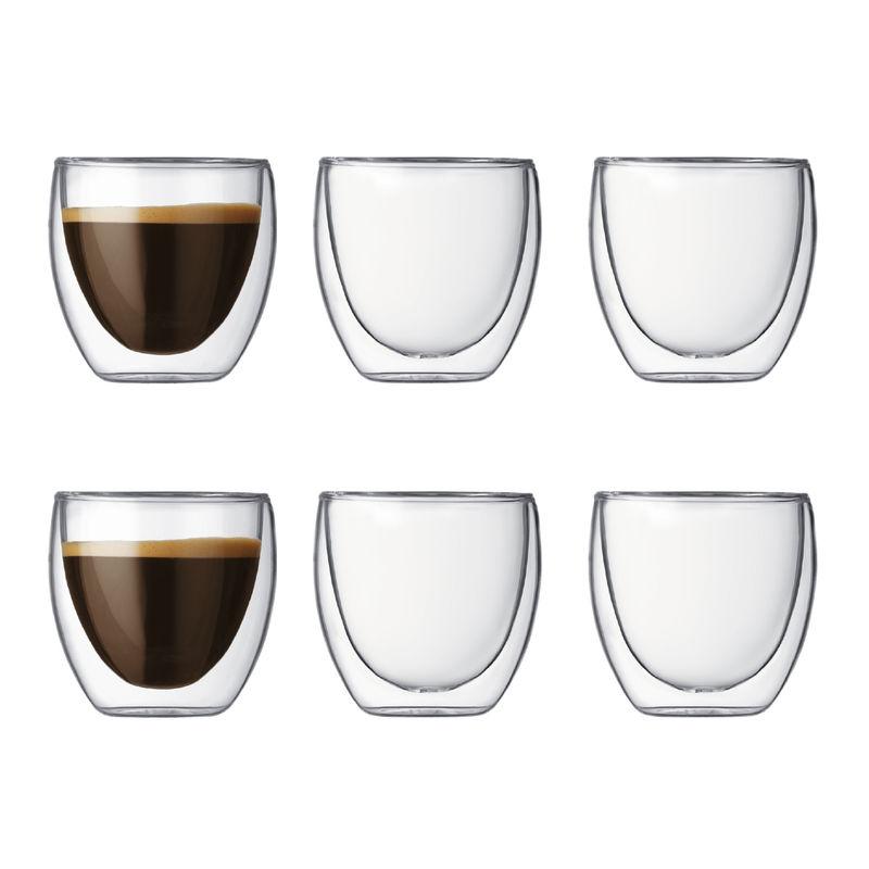 Bodum - Pavina - zestaw 6 szklaneczek - pojemność: 0,08 l