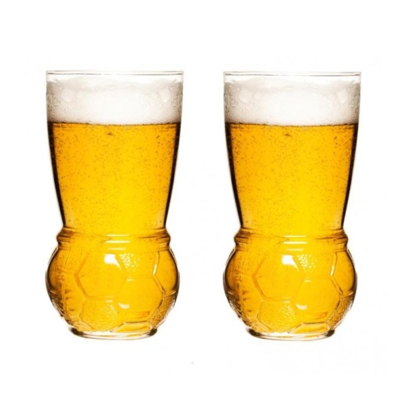 Sagaform - Football - 2 szklanki do piwa - pojemność: 0,45 l