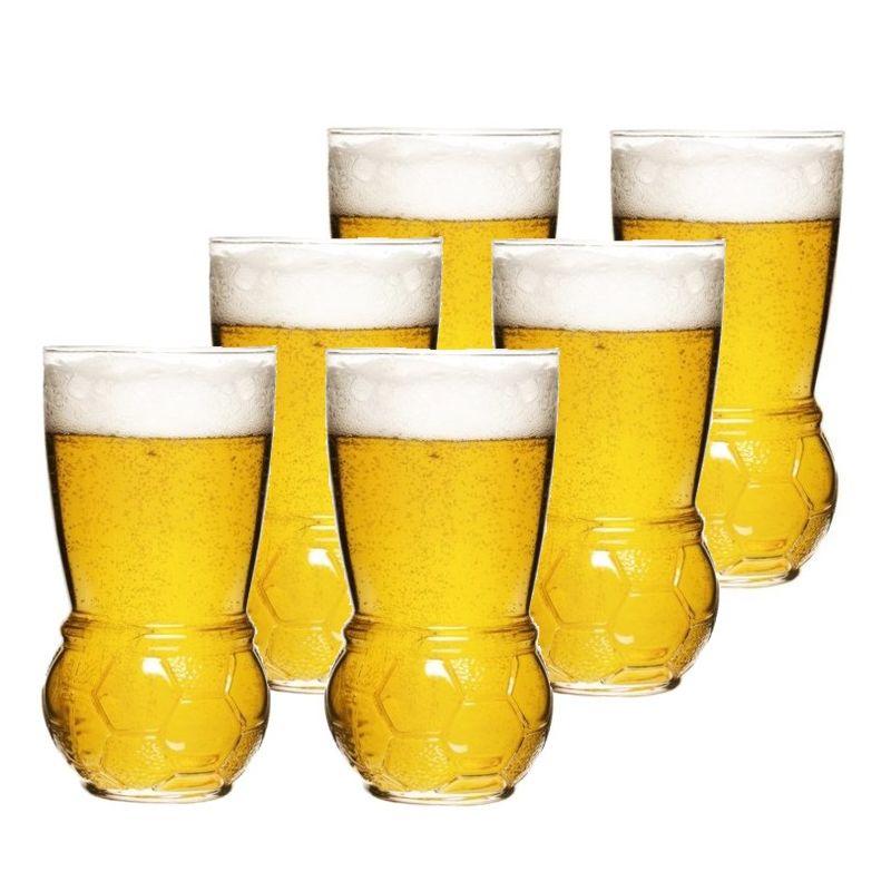 Sagaform - Football - 6 szklanek do piwa - pojemność: 0,45 l