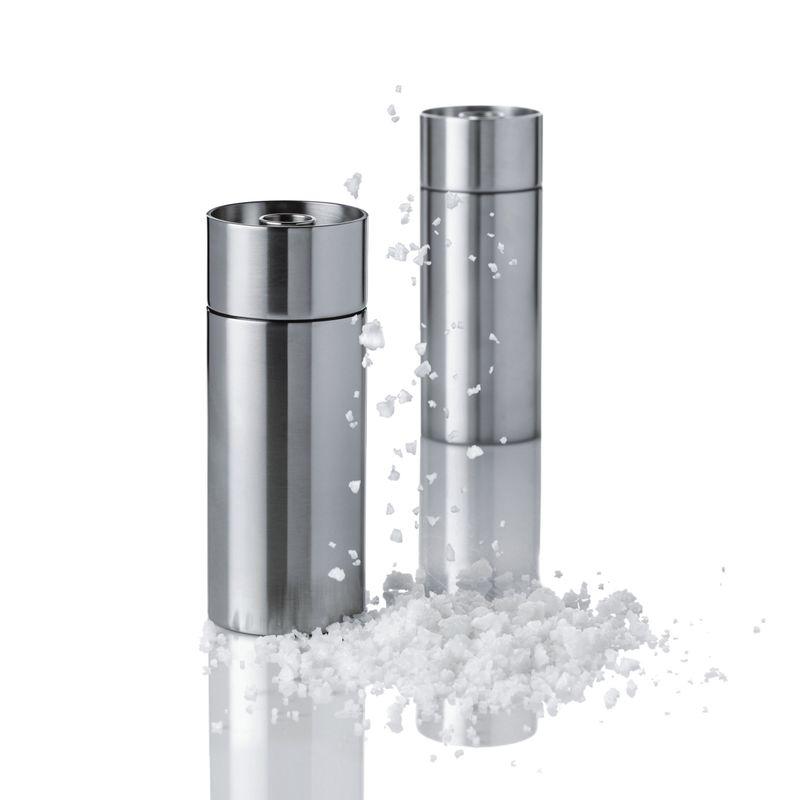 Stelton - Cylinda Line - młynek do soli - wysokość: 12,5 cm
