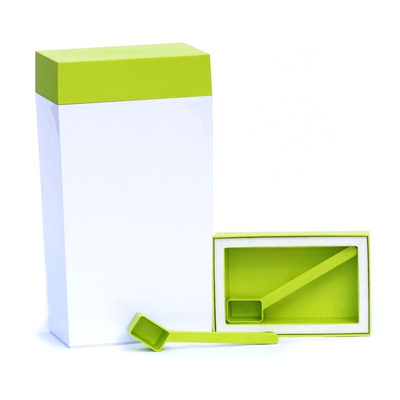 O'lala - prostokątny pojemnik z łyżeczką - pojemność: 4,0 l