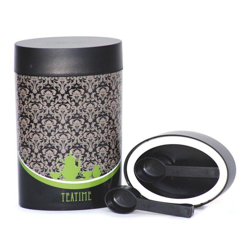 O'lala - Coffee and Tea - owalny pojemnik z łyżeczką - pojemność: 0,6 l