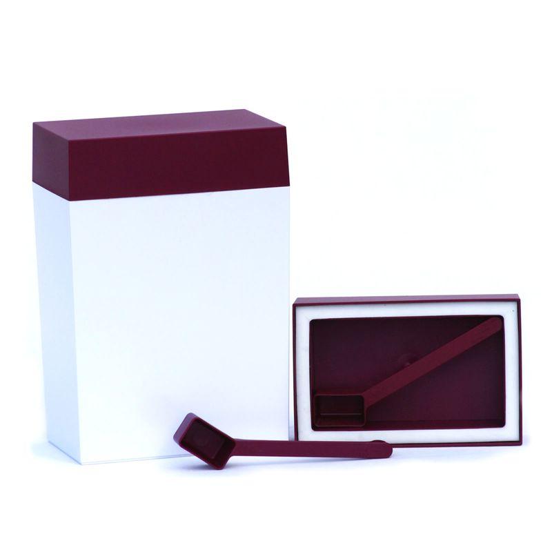 O'lala - prostokątny pojemnik z łyżeczką - pojemność: 3,0 l