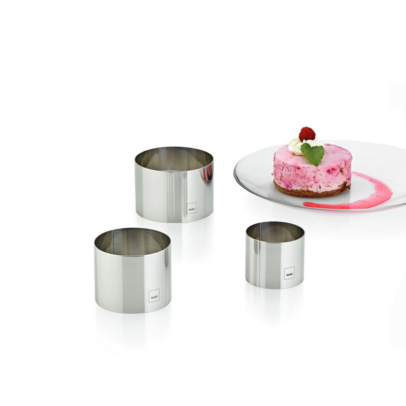 Kela - Decore - pierścienie do formowania deserów i przystawek - wymiary: 6 x 5 cm; 7,5 x 6 cm; 9 x 6 cm