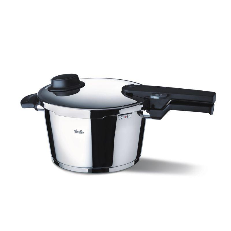 Fissler - Vitavit Comfort - średni szybkowar + wkład do gotowania na parze - średnica: 22 cm; pojemność: 4,5 l
