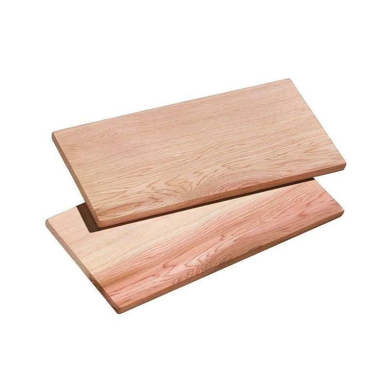 Küchenprofi - Smoky - 2 małe deski do grilla - wymiary: 30 x 15 cm