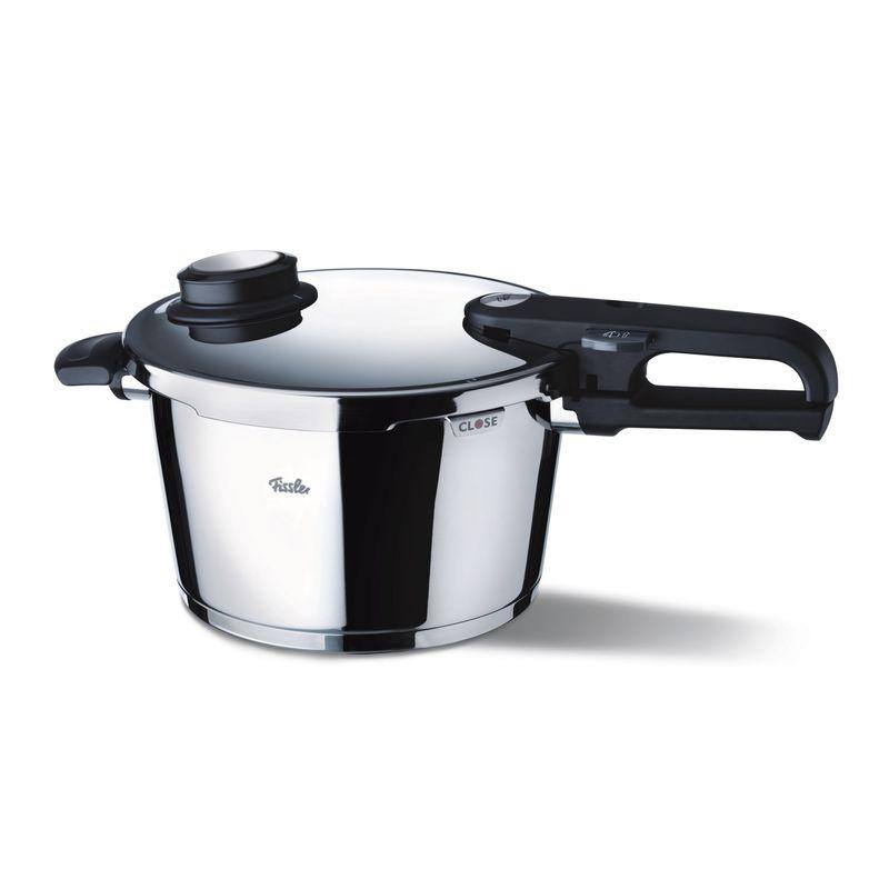 Fissler - Vitavit Premium - średni szybkowar + wkład do gotowania na parze - średnica: 22 cm; pojemność: 4,5 l