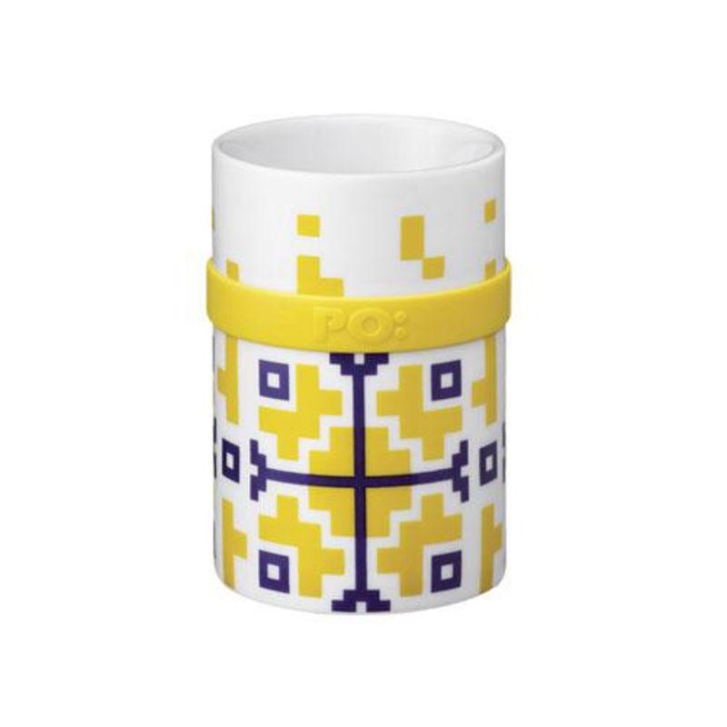 PO: - Ring - kubek Yellow Folkloric - pojemność: 0,2 l