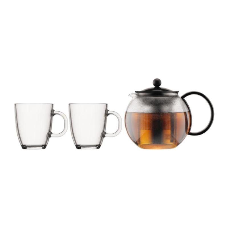Bodum - Assam - zaparzacz do herbaty i 2 kubki
