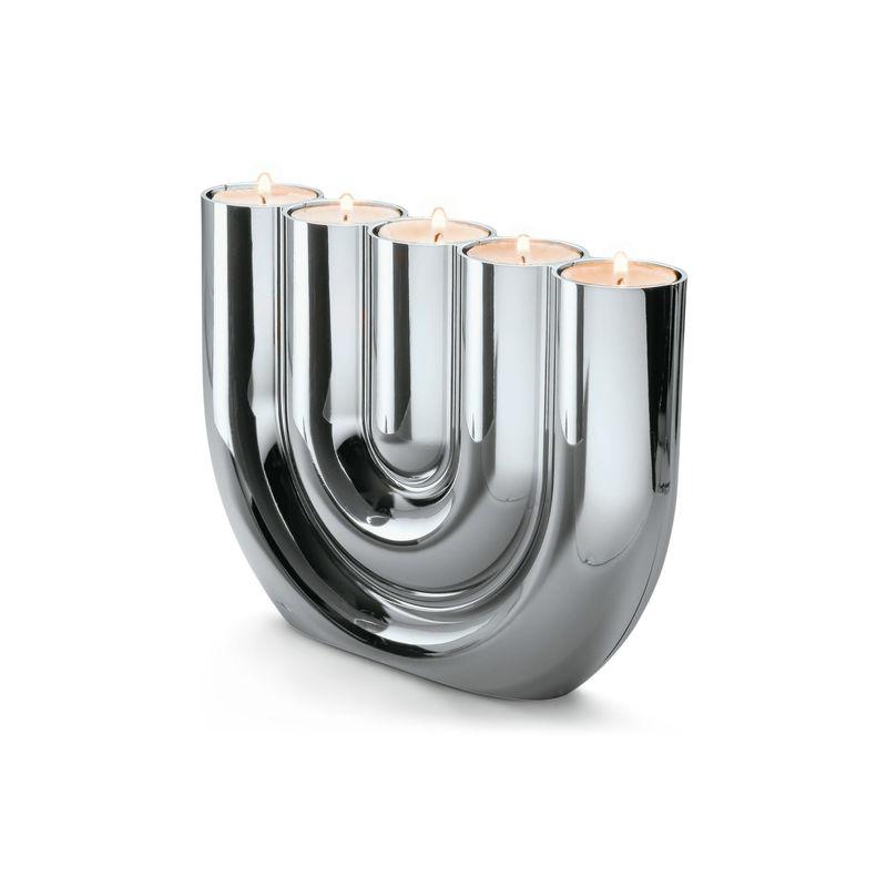 Philippi - Double U - świecznik na tealight - wysokość: 15 cm