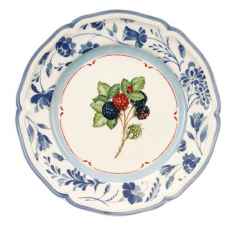 Villeroy & Boch - Cottage - talerz sałatkowy niebieski z jeżynami - średnica: 21 cm