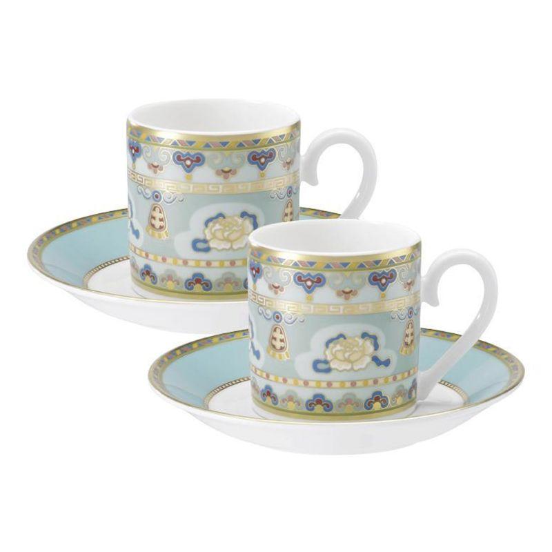 Villeroy & Boch - Samarkand Aquamarin - zestaw do espresso - dla 2 osób