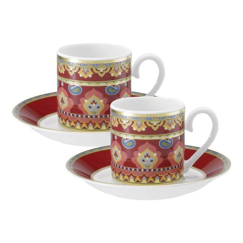 Villeroy & Boch - Samarkand Rubin - zestaw do espresso - dla 2 osób