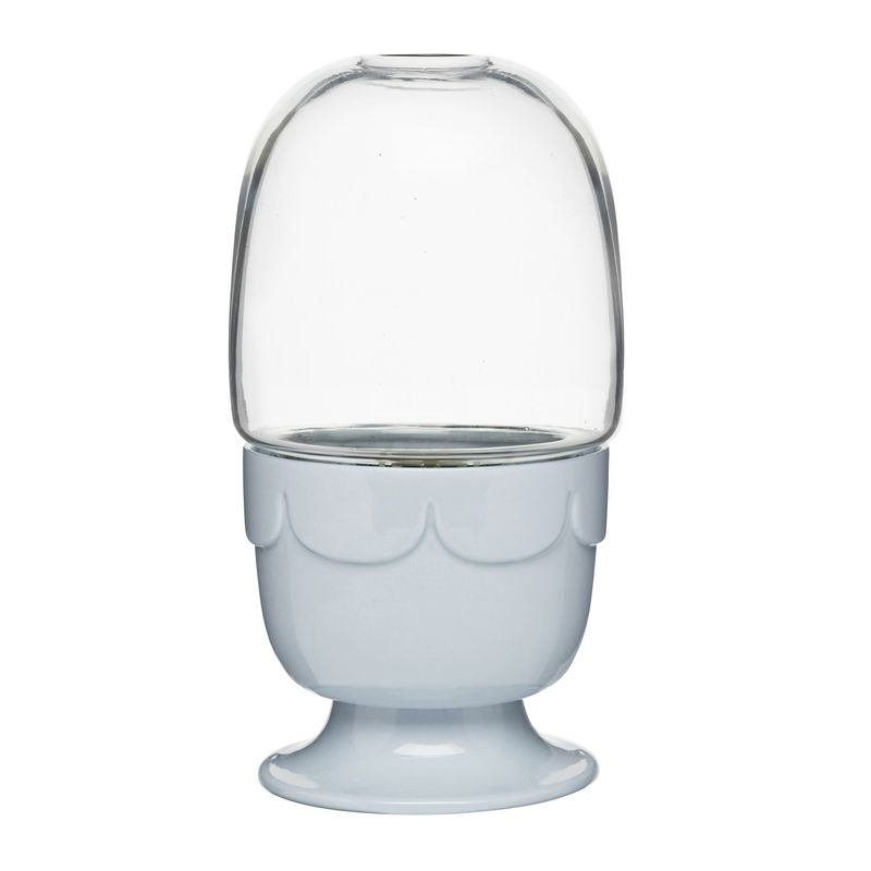 Sagaform - Kitchen - doniczka ze szklanym kloszem - wymiary: 23 x 11 cm