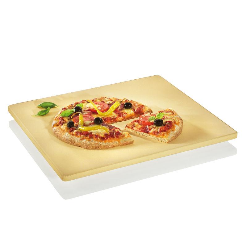 Küchenprofi - kamień do pieczenia pizzy - wymiary: 35,5 x 40 cm