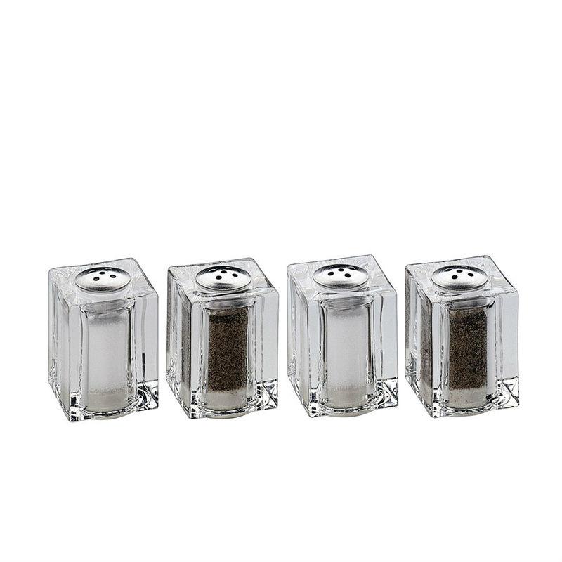 Küchenprofi - 2 mini solniczki i pieprzniczki - wymiary: 4 x 3 x 3 cm