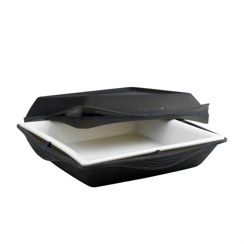 Mastrad - naczynie do zapiekania - silikon + porcelana - wymiary: 23 x 23 cm