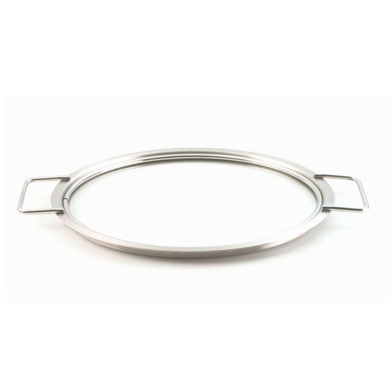 Eva Solo - White Line - pokrywa stalowo-szklana - średnica: 24 cm