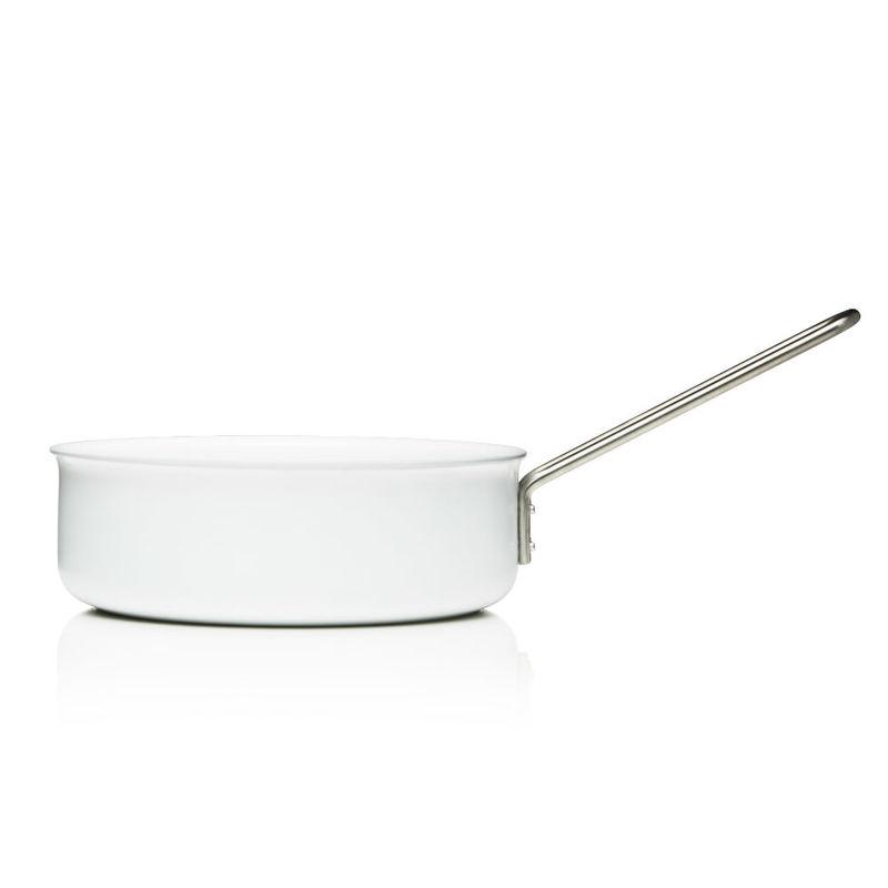 Eva Solo - White Line - wysoka patelnia z powłoką ceramiczną - średnica: 24 cm