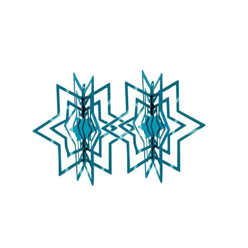Philippi - Star - zestawy 2 zawieszek gwiazdek - wysokość: 6 cm