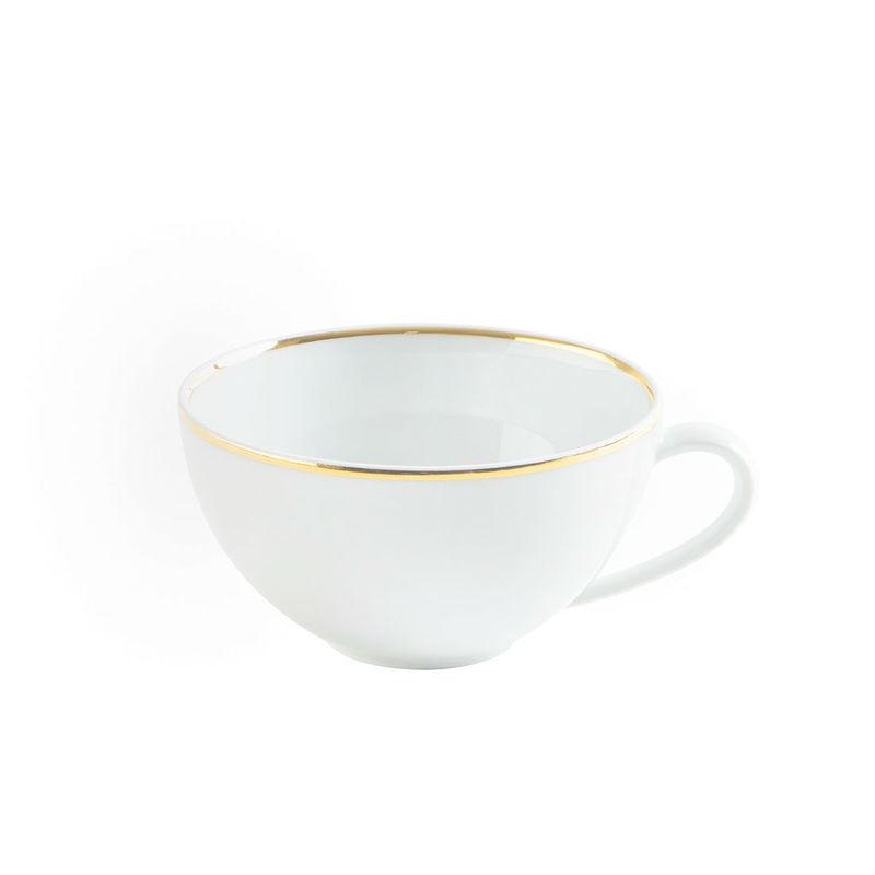 Kahla - Magic Grip Dîner Line of Gold - filiżanka do herbaty lub cappuccino - pojemność: 0,25 l