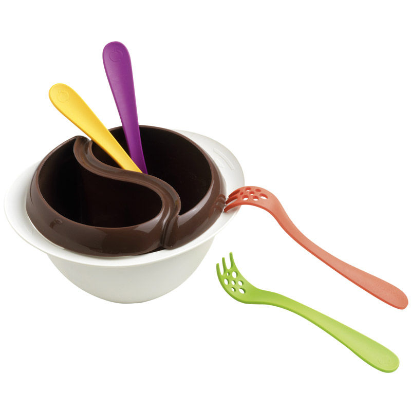 Mastrad - zestaw do fondue czekoladowego - pojemność: 400 g