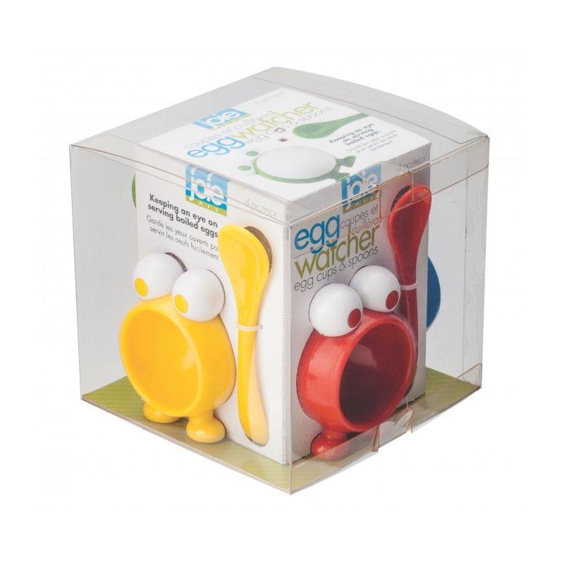 MSC - Egg Watcher - 4 kieliszki i 4 łyżeczki do jajek