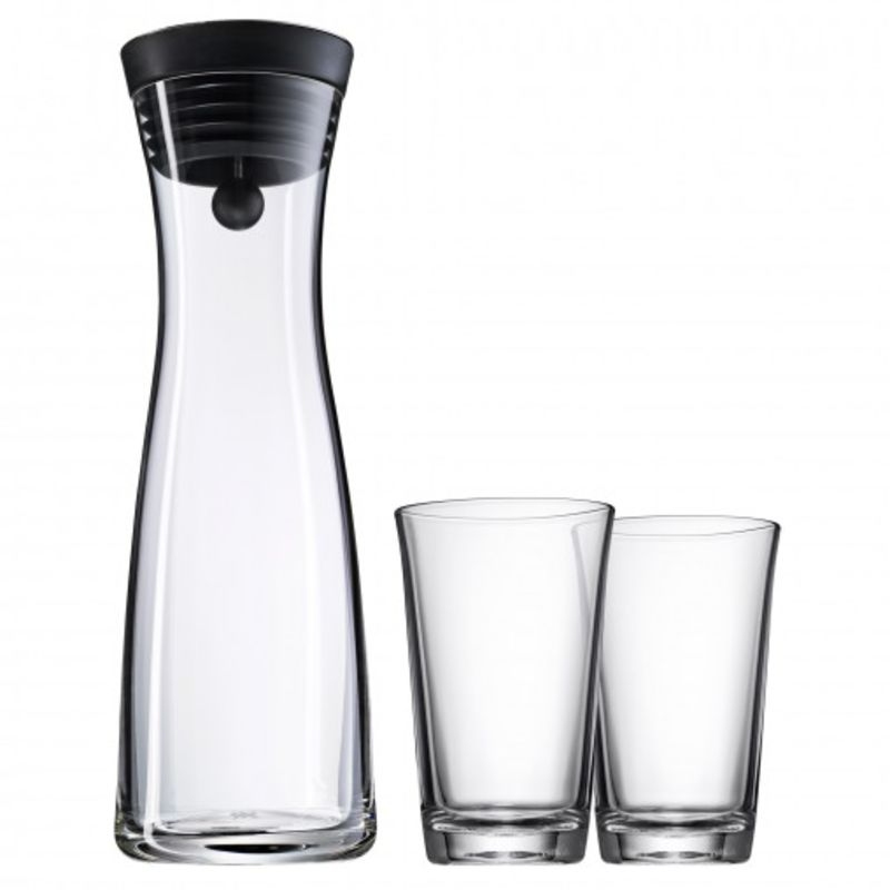 WMF - Basic - karafka i 2 szklanki - pojemność: 1,0 l + 2 x 0,25 l