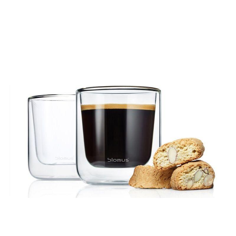 Blomus - Nero - 2 szklanki do kawy lub herbaty - pojemność: 0,2 l