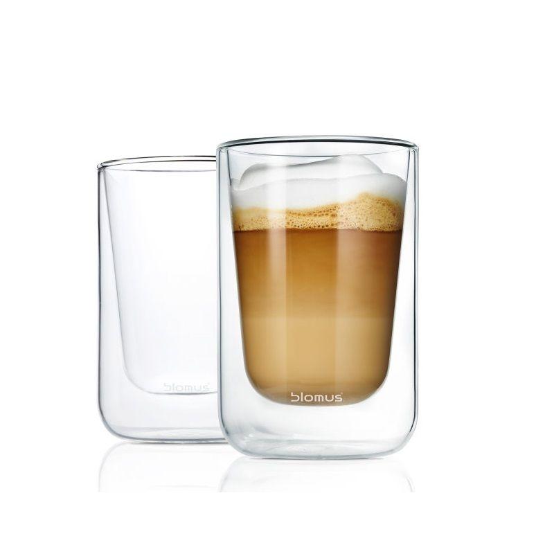 Blomus - Nero - 2 szklanki do cappuccino - pojemność: 0,25 l