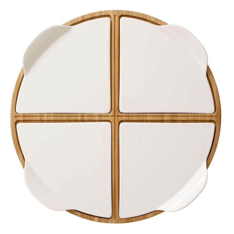 Villeroy & Boch - Pizza Passion - 4 talerze do pizzy na podstawce - średnica: 37 cm