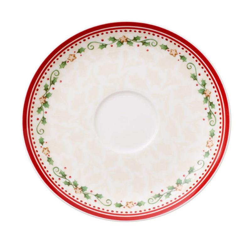 Villeroy & Boch - Winter Bakery Delight - spodek do filiżanki śniadaniowej - średnica: 18 cm