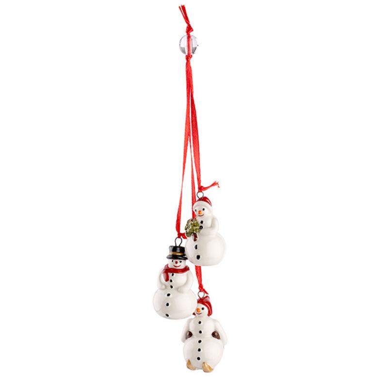 Villeroy & Boch - My Christmas Tree - potrójna zawieszka - bałwanki - długość: 24 cm